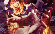League Of Legends Attention Seeker Twisted Fate Wallpaper Wallpaper Twisted Fate, New Skin, League Of Legends, The Magicians, Mists, Tumblr, Fan Art, Characters, Art Cards
