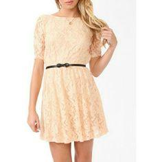 Last Drop Forever 21 Peach Lace Dress