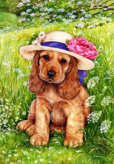 ❤️Cocker Spaniels ~ Artist Debbie Cook