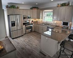Small Kitchen With Peninsula And Recessed Lighting Over Kitchen Cabinets 20 Best Small Kitchen Designs, Small Modern Kitchen Design, Small Kitchen Colors Kitchen Ikea, New Kitchen, Kitchen Small, Kitchen Interior, Apartment Kitchen, Kitchen Sinks, Country Kitchen, 1950s Kitchen, Design Kitchen