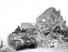 A Canadian Kangaroo, a Ram Tank without turret used to transport troops