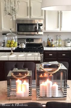 lanterns from @HomeGoods to add some elegance to your kitchen decor.  (Sponsored pin)