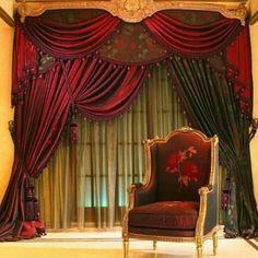 د Curtains And Draperies, Luxury Curtains, Velvet Curtains, Modern Curtains, Window Curtains, Drapery, Swag Curtains, Valances, Curtain Patterns