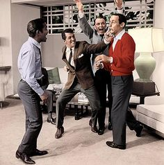 Class. Style. The original Rat Pack, Frank, Dino, Sammy and Joey Bishop. No one did comedy with better style than these guys.