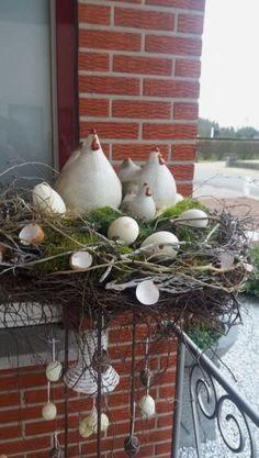 Easter Wreaths, Christmas Wreaths, Spring Decoration, Deco Floral, Spring Crafts, Easter Baskets, Easter Crafts, Garden Art, Floral Arrangements