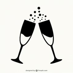 Glasses of champagne outlines Free Vecto. Cardboard Box Crafts, Paper Crafts, Engagement Mehndi Designs, Gravure Laser, Retro Background, Nail Polish Art, Graphic Wallpaper, New Years Decorations, Champagne Glasses
