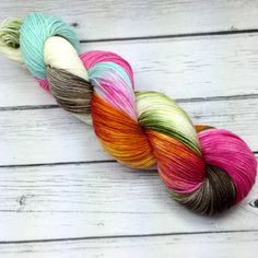 Hand Dyed Sock Fingering Yarn / INSTOCK / Merino by YarnInkstudio