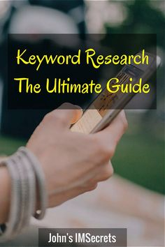 Keyword Research - The Ultimate Guide (Click on the image to access the guide).