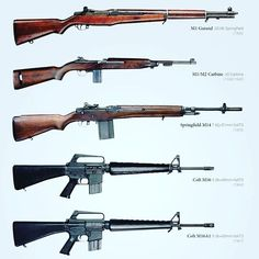 History of the the US weapons from 1936 - all these weapons were used in the vietnamwar. Illustrated by Battle Rifle, Arm Armor, Hunting Rifles, Military Weapons, Guns And Ammo, Self Defense, Shotgun, Airsoft, Being Used
