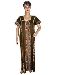 Caftan Dress Brown Green Print Cotton Kaftan Long Maxi Medium Mogul Interior,http://www.amazon.com/dp/B0096JGAH8/ref=cm_sw_r_pi_dp_0kJssb1ZN1EXWCK0