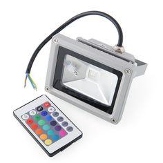 G.PLAZE - Top Deals: LED RGB 16 Farben Scheinwerfer - Mit Memory Funkti...