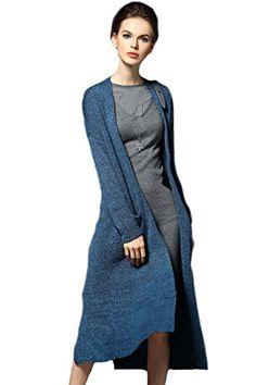 Kokoda Women's Winter Long Wool Solid Midi Cardigan Sweater