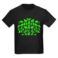 Green Monsters - Sheldon's Kids Dark T-Shirt