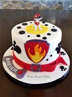 Paw patrol cake paw patrol cake cake patrol paw paw patrol cake by medena radionica Paw Patrol Birthday Cake, 3rd Birthday Cakes, Paw Patrol Party, 4th Birthday, Birthday Ideas, Pastel Paw Patrol, Snowflake Wedding Cake, Torta Paw Patrol, Funny Wedding Cake Toppers
