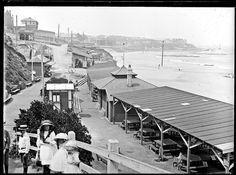 Newcastle Beach and promenade, Newcastle, NSW, 12 February 1912. History NSW