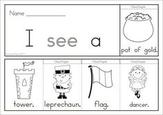 7 St Patrick's Day Sight Word Flip Books (color and black and white). Includes a recording sheet for each booklet so kids can write their favorite sentences. Great paper saving alternative to traditional readers!