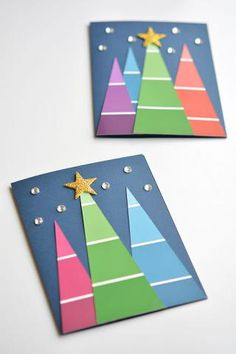 Paint Chip Christmas Cards | Kids Crafts | Christmas | Christmas Tree | Homeschooling World