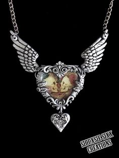 images about Hearts Heart pendants, Steampunk