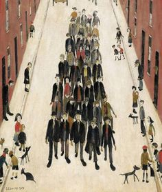 3 minuty temu Więcej A Protest March by Laurence Stephen Lowry 1959 (Private Collection). Art Nouveau Poster, Protest Art, English Artists, Classic Paintings, Gcse Art, Naive Art, Art For Art Sake, Office Art, Art History