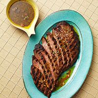 This grilled Greek flank steak is yummy and great for Summer grilling season!