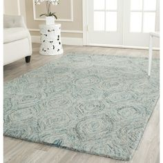 Found it at Wayfair - Ikat Ivory & Blue Area Rug