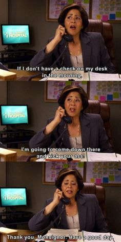 lmaoo love her.  Can't wait for Nurse Jackie to come back on.