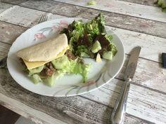 Pitawich met salade