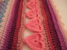 "Free pattern for ""Line of Hearts Crochet Border""! Genius! Thanks so much for sharing xox by delores"