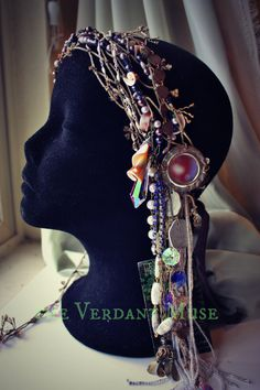 Tribal Siren Headdress by the Verdant Muse ~ watch the video w/ Zoe Jakes et al here: https://www.youtube.com/watch?