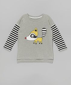 Love this Gray Raccoon Layered Tee 29.99$