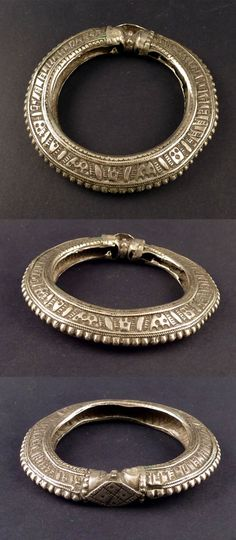 Yemen | Old Bedouin bracelet; silver.  ca. mid 20th century | These types of bracelets can also be found among the Rashaida living in the Horn of Africa | 75€