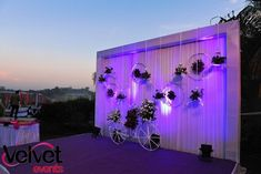 Picture from Velvet Events Photo Gallery on WedMeGood. Browse more such photos & get inspiration for your wedding Engagement Stage Decoration, Wedding Stage Backdrop, Wedding Backdrop Design, Wedding Hall Decorations, Wedding Stage Design, Birthday Decorations, Arch Decoration, Wedding Entrance, Anniversary Decorations