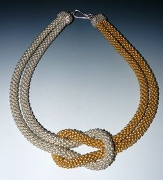 Knot Necklaces - crocheted.    I love knots in necklaces & bracelets.