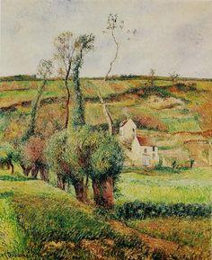 """Camille Pissarro (1830-1903) ~ """"Pontoise, La Côte du Chou"""", 1882 ~ Huile sur Toile 81.5 x 65 cm ~ Collection Privée"""
