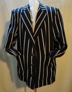 Vintage Jacket great Gatsby striped Ultra by blingblingfling@Etsy..$44..FABULOUS….