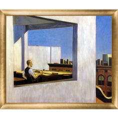 'Office in a Small City, 1953' by Hopper Framed Painting