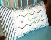 Blessings Ticking Pillow