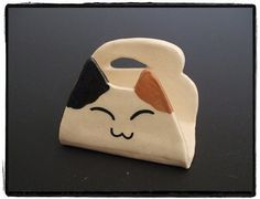 Super Cute Calico Cat Business Card Holder by Misunrie Gotta Have This!!