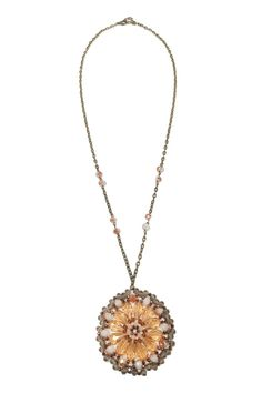 This gorgeous beaded necklace features hand stitched beading. Pair this with a simple romper and sun hat for a gorgeous chic boho look! Add a pop of color with this necklace.   Circle Beaded Necklace  by Glam Squad Shop. Accessories - Jewelry - Necklaces - Pendant Las Vegas