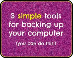 These are really easy ideas from an instructional technology coach to make sure you don't lose ANYTHING if your computer crashes!