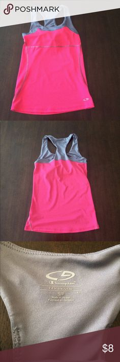 💕Pink Workout Top💕 Has attached sports bra. Great Condition. Champion Tops Tank Tops