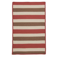 Colonial Mills Stripe It Terracotta Indoor/Outdoor Area Rug Rug Size: 8' x 11'
