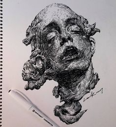 Drawing Doodles Sketches Pen on paper . Drawing Sketches, Art Drawings, A Level Art, Ap Art, Art Studies, Pretty Art, Art Sketchbook, Art Tips, Oeuvre D'art