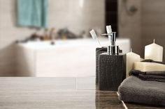 Luxurious Touches for a Hotel-Style Bathroom Bad Styling, Relax, Bathroom Styling, Clipart, Soap Dispenser, Luxury, Interior, Home Decor, Style