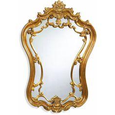 """Bassett Mirror Hermosa Wall Mirror Gold Leaf 24"""" x 35"""" - M2968EC"""