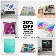 30% OFF ART PRINTS, TAPESTRIES, AND ALL HOME DECOR + WALL ART