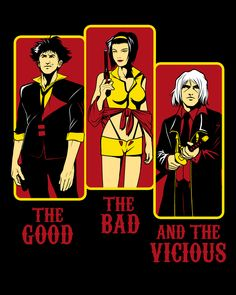 The Good The Bad and The Vicious Cowboy Bebop x Sergio Leone – Samurai Champloo Western Anime, Western Film, Cowboy Bebop Tattoo, Cowboy Bepop, See You Space Cowboy, Asgard, Samurai Champloo, Space Cowboys, Anime Recommendations