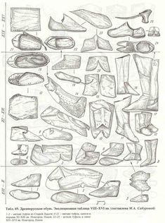 Shoes from The Ancient Rus: Life and Culture
