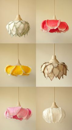 Flower paper lamps by Sachie Muramatsu
