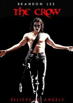 The Crow movie poster - Brandon Lee's last film. He died on the set while making this movie.